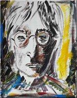 johns arte venda por atacado-Francis Fulton-Smith - John Lennon Home Decor Artesanato / HD impressão pintura a óleo sobre tela Wall Art Canvas Pictures 191226