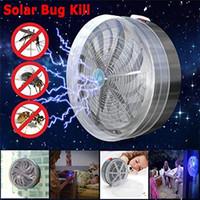 hafif sağlıklı toptan satış-Doğrudan Güneş Buzz Zapper Killer Öldürmek UV Işık Fly Böcek Bug Sivrisinek LAMBA Ev Mutfak Seyahat Taşıma Araçları Sağlıklı çevre Dostu
