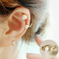 Wholesale pear clips for sale - Group buy 2019 Amazing Price New Clip Earrings Imitation Pearl Jewelry Earrings Pear Wedding Cuff Clip