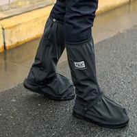schuhabdeckung tragen großhandel-Erwachsene Durable Waterproof Anti-Rutsch-Wiederverwendbare Schuhe Cover Protector Outdoor Sports Camping Wandern Radfahren Foot Wear Regentage