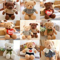 High Quality 30CM Teddy Bear With Scarf Stuffed Animals Bear Plush Toys Teddy Bear Doll Lovers Baby Birthday Gift