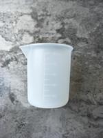 шкала dhl оптовых-Многоразовые 100 мл Прозрачный мерный стаканчик со шкалой Силиконовые измерительные инструменты для домашней выпечки Кухня Бар Столовые принадлежности DHL ShiP HH7-1068