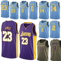 82424b23caf 2019 Men s Basketball jerseys Lonzo 2 Ball Kyle 0 Kuzma Kobe 24 Bryant  Brandon 14 Ingram basketball jersey