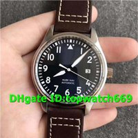 Wholesale a2 stainless steel for sale - V7 New Luxury Watch Stainless Steel quot Le Petit Prince quot Blue Dial Brown Leather Strap ETA A2 automatic movement Mens Watches