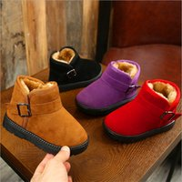 Wholesale new design boy kids shoe resale online - New Design Girls Boots Kids Baby Toddler Shoes Child Winter Warm Snow Boots Shoes Plush Thicker Sole Boys Girls Snow