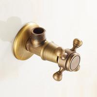 válvulas de bronze antigo venda por atacado-Válvula de bronze antigo da válvula da válvula de controle da água do triângulo Válvula de bronze 1/2 * 1/2 da água da torneira do banheiro