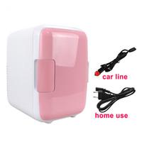 chauffage boîte de refroidissement achat en gros de-Double usage 4L Home Car Réfrigérateurs Ultra silencieux à faible bruit de voiture Mini réfrigérateurs Congélateur Refroidissement Chauffage Boîte Réfrigérateur
