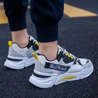 фарфоровая обувь оптовых-Спортивная обувь для ходьбы Комфортная весна осень Китай спорта кроссовки Толстые Outsole Мужской New Trend Sport Running Тренеры