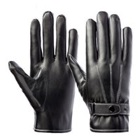 010053803a296 cycling leather fingerless gloves Canada - PU Leather Touch All Smart  Phones Screen Mens Warm Gloves