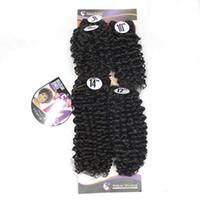 tissus synthétiques achat en gros de-8-14 pouces Afro Kinky Curly Jerry Curl Bundles De Cheveux Synthétique Tisser À Coudre Dans Les Extensions De Cheveux Naturel Noir 99J Couleur 5pcs Un Pack