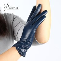 Wholesale women s touch screen gloves for sale - Group buy Touch Screen Gloves Plus Velvet Warm Winter Gloves Women Leather female Fashion Brand Driving Glove sheepskin Mittens
