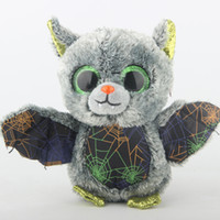 juguetes grises al por mayor-Ty Beanie Boos Peluche Animales de Peluche Vlad The Grey Bat Toy 15cm