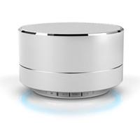 opo bluetooth al por mayor-Inalámbrico A10 LED Receptor Bluetooth que brilla intensamente Manos libres Reproductor de música Metal Bluetooth Speaker para iPhone xiaomi Oppo