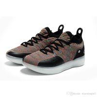 kevin durant ayakkabı çiçek toptan satış-Ne KD 11 erkek basketbol ayakkabıları satılık MVP Çiçek siyah CityEdition Teyze Inci Kevin Durant ile Xi düşük çocuklar çizmeler kutusu