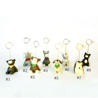 Wholesale animal shaped clip resale online - Party Decoration Style Mini Resin Animal Shaped Table Number Holder Place Card Clip Wedding Birthday Party Decoration EEA483