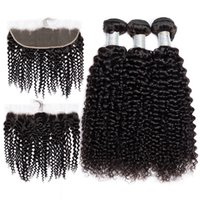 Wholesale hair weave heads for sale - Brazilian Kinky Curl with x4 Lace Frontal Ear to Ear Full Head Natural Color Can be Dyed