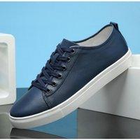 avrupa tarzı erkek ayakkabıları toptan satış-kraft ilk katman Avrupa istasyon moda vahşi beyaz ayakkabılar klasik sıcak tarzı erkekler rahat ayakkabılar ayakkabı