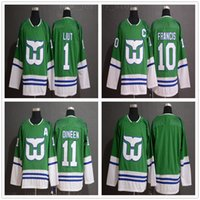 Wholesale kevin dineen jersey resale online - 2019 New Hartford Whalers Ron Francis Jersey Mens Stitched Hockey Mike Liut Kevin Dineen Jersey Green Black White size S XXXL