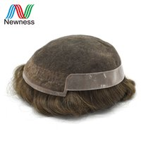 Wholesale Newness Toupee Hair For Men Invisible Remy Hair As Like Own Systems Super Fine Welded Mono Lace With Pu OCT B
