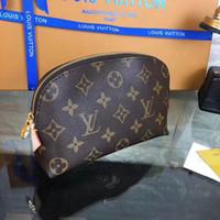 bolsas pequenos venda por atacado-M344 Designer 5A + Xadrez Saco de Cosmética Mulheres Zipper Maquiagem Sacos de Moda Sacos de Material Casos Pequenos Make Up Bolsa de Armazenamento Portátil Sacos