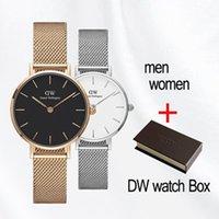 ingrosso d orologi di marca-2019 donne di marca orologi 36mm 32mm uomini 40mm moda dw amanti donne maglia d'acciaio oro mens orologi di lusso montre femme relojes masculino