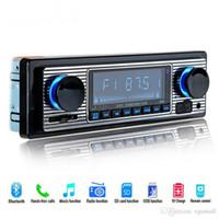 rádio preto venda por atacado-12 V Leitor de Rádio Do Carro Bluetooth Estéreo FM MP3 USB SD AUX Áudio Auto Eletrônica autoradio 1 DIN oto teypleri rádio para carro