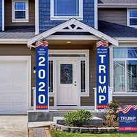 Wholesale door decors for sale - Group buy 2020 Decor Banner Trump Flag America Again for President USA Donald Trump Election Banner Flag Donald Flags Door Curtain50pcs T1I1998