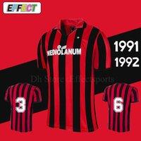 91 92 AC Retro van Basten Gullit Maldini Soccer Jersey 1991 1992 Italia  Baresi Vintage classical Football Shirts 8a9f38824