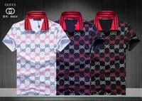pequeña camiseta al por mayor-Italia Camiseta de lujo Camiseta Medusa Designer Polo Camisas Bordado de la calle Liga Serpientes Little Bee Impresión Ropa Hombre Marca Polo