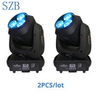 ingrosso dj ha condotto il lavaggio-2 pezzi SZB 3x40w Zoom Bee eyes Testa mobile a LED Luce RGBW 4IN1 Color Mixing DMX moving zoom wash DJ Lighting Stage Light / SZB-MH0340