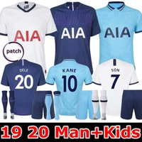 anime çocukları toptan satış-19 20 Spurs adam ve çocukları eve futbol Jersey Setleri 2019 2020 Tottenham Kane Oğlu Alderweireld Eriksen Dele ANA UZAK Yetişkin çocuk Futbol Gömlek