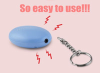 luz estroboscópica de alarma al por mayor-2 unids Bell Tama Mini llavero Personal Alarma 120dB Alarma de emergencia Autodefensa Llavero para proteger Mujeres niños estudiantes