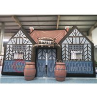 Wholesale cheap giant toy for sale - 10 mH giant inflatable Irish pub tent to door cheap inflatable bar tent party events tent for rental