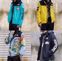 siyah askeri giyim toptan satış-EN! Moda Tasarımcısı Hoodie Erkek Ceket Giyim Askeri Harita Ceketler Kapşonlu Siyah Erkek Lüks Ceketler Hoodies Noctilucent B ...
