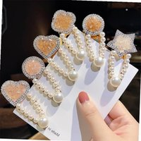 Wholesale korean girl hairpin for sale - Group buy M MISM Pearls Crystal Hair Pins Geometric Korean Style Rhinestone Barrettes Hair Clip Hairpin for Women Girls Accessories