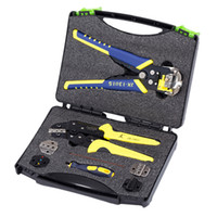 Wholesale wire stripper crimping for sale - Group buy 1 Set Wire Crimper Multitool Ratcheting In Wire Crimper Stripper Crimping Plier Terminals Kit for Stripping Crimping
