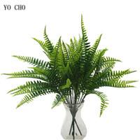 ingrosso piante di foglie piccole-Piante artificiali piante finte Eucalipto Ramo di albero in plastica Decorazione di nozze di Natale Fioritura delle foglie piccole foglie di piante