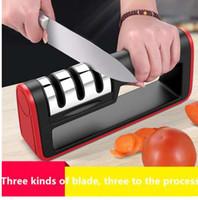 профессиональные заточные ножи оптовых-Подлинная Профессиональная 3 Этапа Кухонный Нож Точилка Керамический Алмазный Нож Точилка Точильный Камень Кухонный Инструмент Точильный Камень