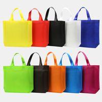 sacos de compras tecidos venda por atacado-Sacola reforçada reusável do mantimento do punho dos sacos de compras grande