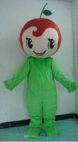 Wholesale cherry costume for sale - Group buy 2019 Discount factory sale Good vision and good Ventilation adult red cherry mascot costume with green shirt for adult to wear