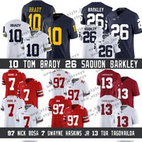 b29c5d8bede Wholesale michigan wolverines football jerseys for sale - Group buy NCAA Michigan  Wolverines Tom Brady Saquon