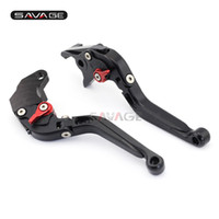 Wholesale folding brake clutch levers resale online - Brake Clutch Lever For SUZUKI DL650 V STROM SV650 A RV200 Van Van Motorcycle Accessories Folding Extendable