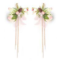 ingrosso gioielli di fiori acrilici-Orecchino frangia orecchino frangia orecchino frangia con perline nappa orecchini per le donne gioielli da sposa JCC102