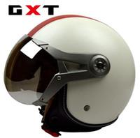 Wholesale gxt motorcycle helmets for sale - Group buy GXT Motorcycle Scooter Helmet Motorcycle Open Face halmet Motocross Vintage Casque Moto Casque Casco Motocicleta Capacete