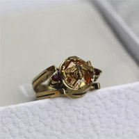 Wholesale brand lovely jewelry for sale - Group buy Classic Bee Design Women Rings Fashion Double Side Lovely Female Brand Ring Personality Trendy Girls Luxury Ring Jewelry