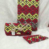 ingrosso sacchetti di tessuto africano-La borsa di cera africana di modo mette 3 pezzi / set la borsa della cera di ankara che abbina 6 yard reale migliore nuovo tessuto morbido del hollandais! J60532