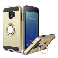 Wholesale galaxy light phone cases resale online - Car Mount Holder Magnetic Hybrid Phone Ring Case for Samsung Galaxy A7 A750 J4 Plus J6 Prime J2 Core J260 Shockproof Cover