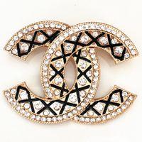 broches de diamantes al por mayor-Broches de mujer Broche de diamantes de perlas de alto grado para fiesta Exageración Oro Plata Pines Joyería 11 Estilos Promoción