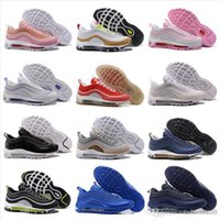 Wholesale genuine leather women shoes drop shipping for sale - Group buy Discount OG Tripel White Metallic Gold Silver Bullet Mens Running Trainers Best Sneakers Shoes with Box Men Women Drop shipping