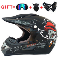 Wholesale open face off road helmets resale online - Motocross Helmet Off Road ATV Cross Helmets MTB DH Racing Motorcycle Helmet Dirt Bike Capacete with Goggles Mask Gloves Gift